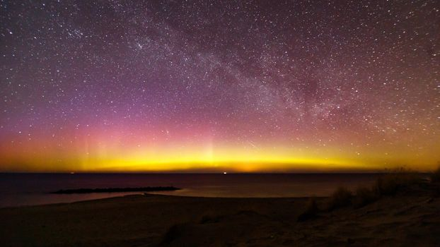 Photo free stars, northern lights, nature