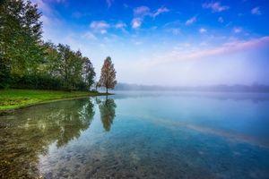 Фото бесплатно туман, пейзаж, озеро