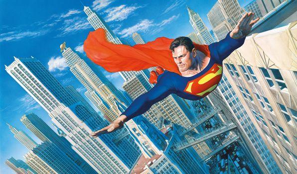 Фото бесплатно Superman, супергерои, произведение искусства