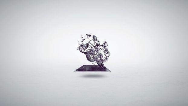 Photo free face, white, illustration