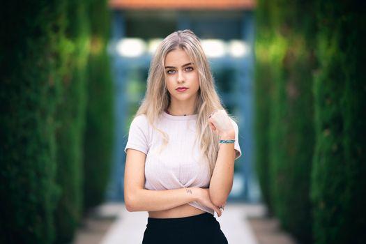 Photo free model, depth of field, blonde