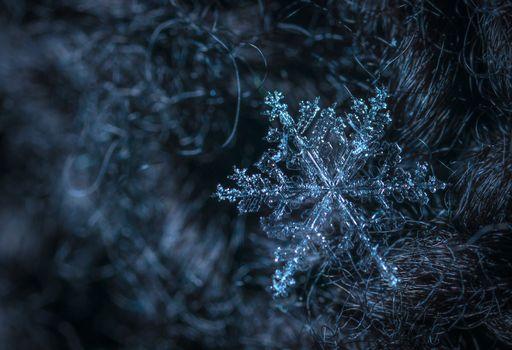 Фон снежинка