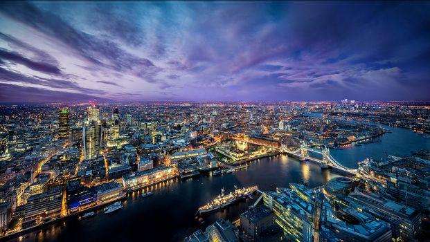 Photo free London, city, dusk