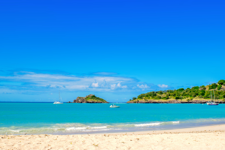 Обои море, острова, пляж, яхты