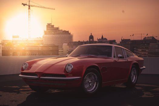 Фото бесплатно машины, красная машина, солнечный свет