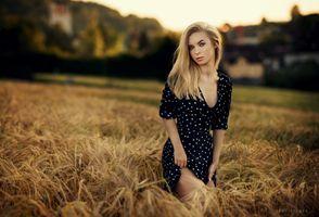 Бесплатные фото женщины,Шон Арчер,платье,блондинка,портрет,глубина резкости,женщины на открытом воздухе