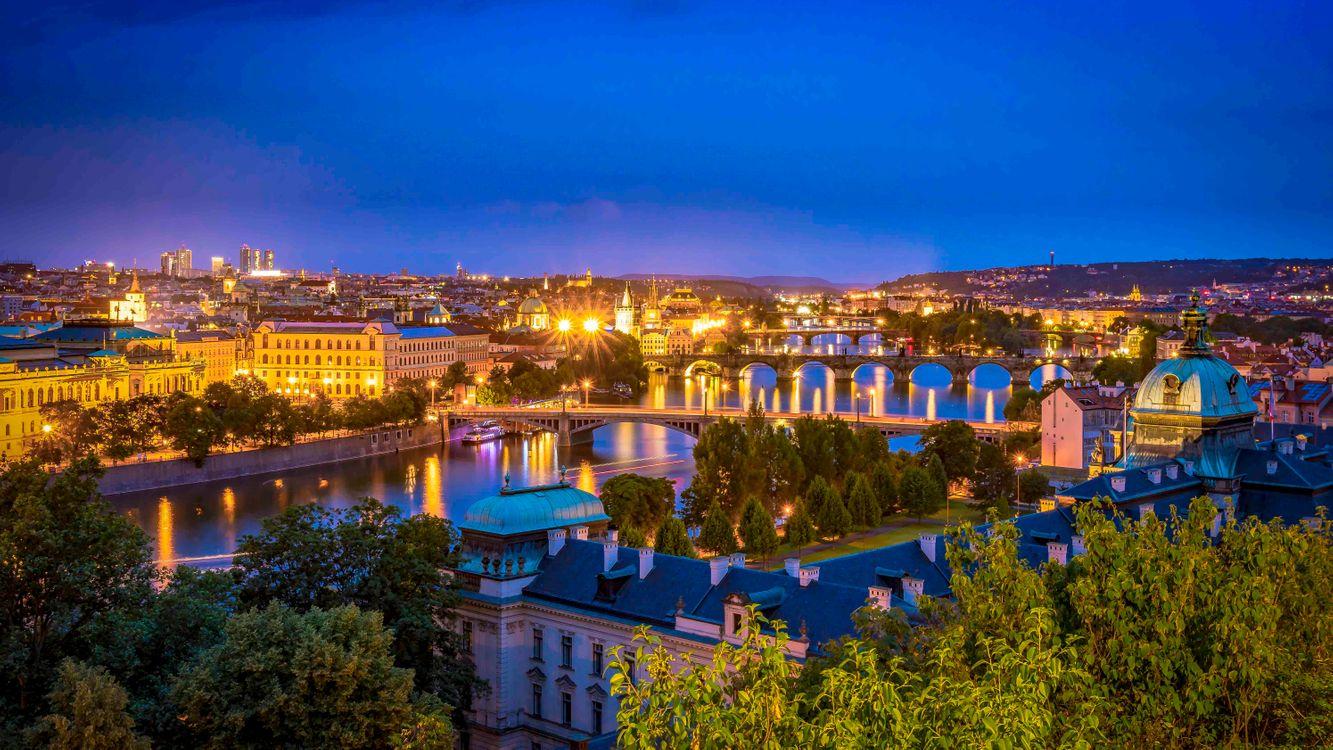 Фото бесплатно Карлов мост, Прага, Чехия, город