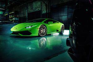 Фото бесплатно Lamborghini Huracan, салатовый, зеленый