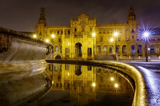 Photo free Seville, Plaza of Spain, city