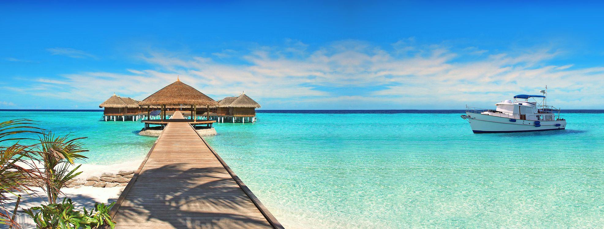 Фото бесплатно Мальдивы, тропики, пляж - на рабочий стол