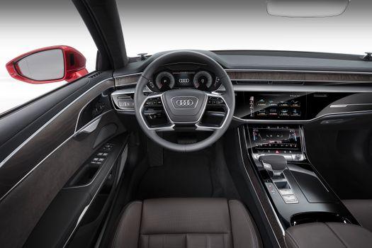 Заставки Audi A8, машина, салон