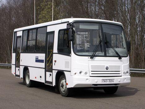 Photo free PAZ - 3204 bus, white