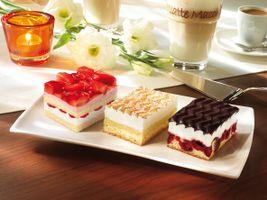 Заставки десерт, сладкое, pirozhnye, klubnichnoe, vanilnoe