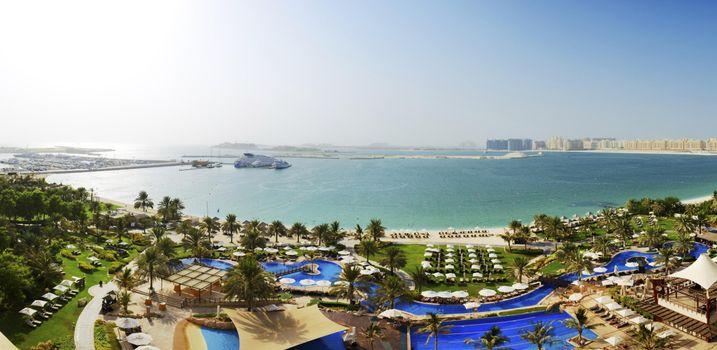 Заставки Дубай, город, море