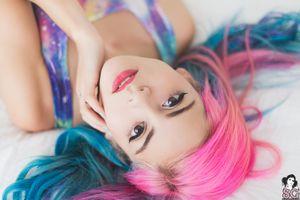 Бесплатные фото Satin Suicide,Suicide Girls,женщины,модель,лицо,розовые волосы,поддельные ресницы