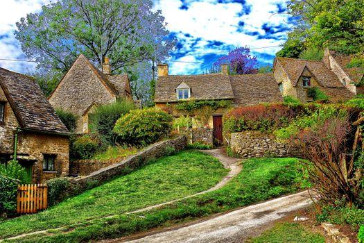 Фото бесплатно дома, Котсволдс АОНБ, Англия