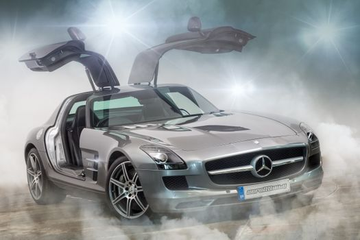 Photo free Mercedes Benz SLS AMG 6 3L, car, automobile
