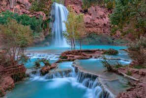 Бесплатные фото Havasu Falls,Национальный парк Гран-Каньон,Северная Аризона,водопад