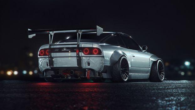 Заставки Nissan, автомобили, произведение искусства