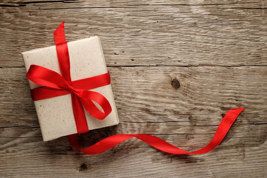 The envelope and red ribbon