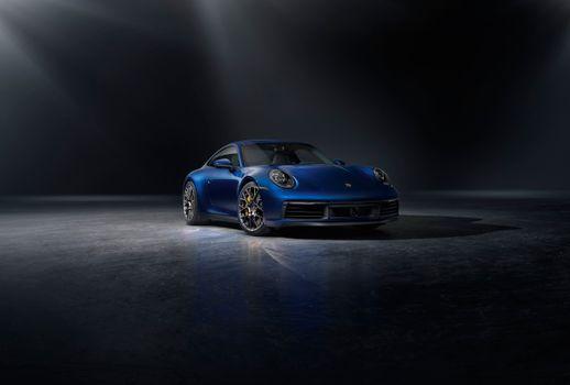 Фото бесплатно Porsche 911, синий, Porsche