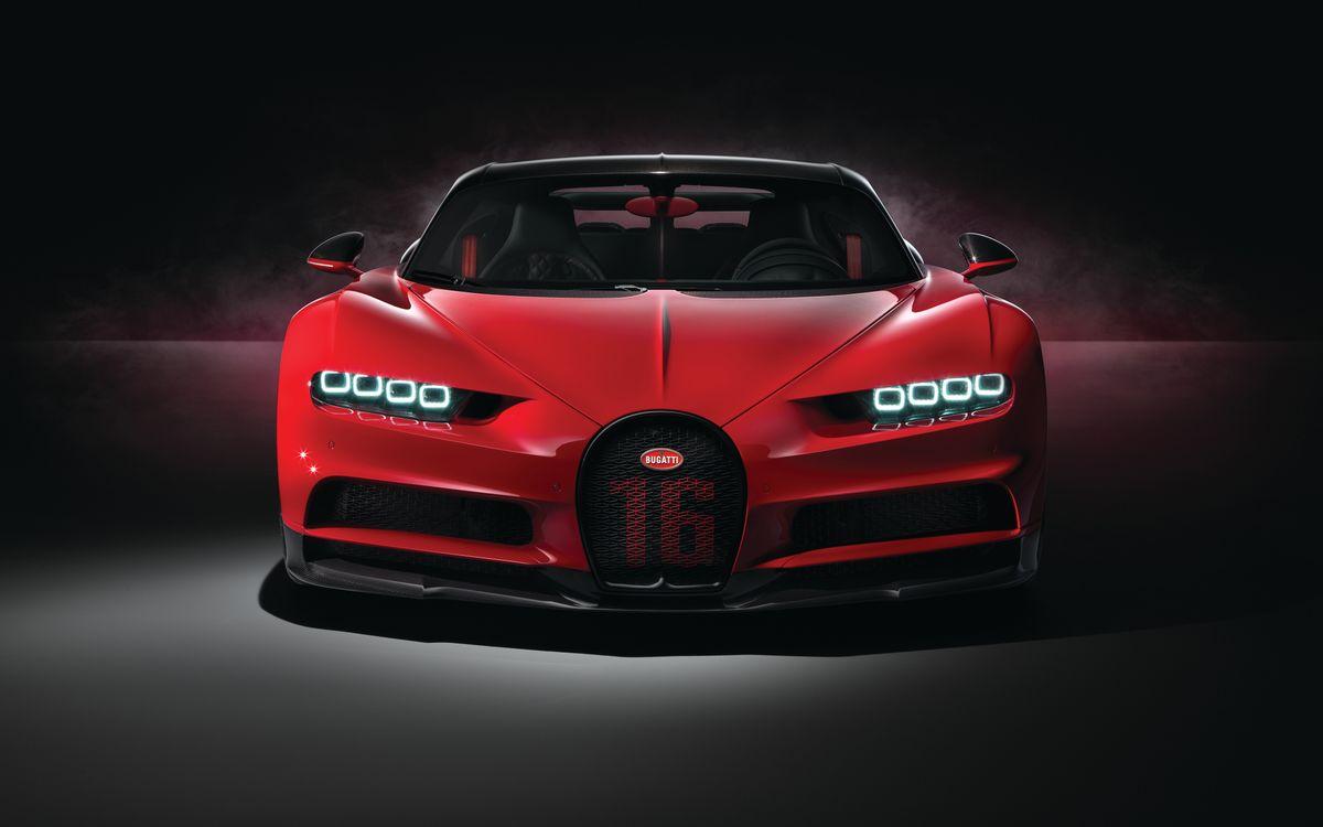 Обои Bugatti Хирон, автомобили, красный картинки на телефон