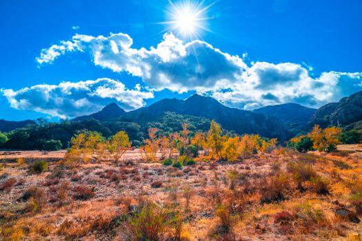 Заставки горный пейзаж, парки калифорнии, горы сша