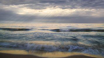 Фото бесплатно пляж, сумрак, вода