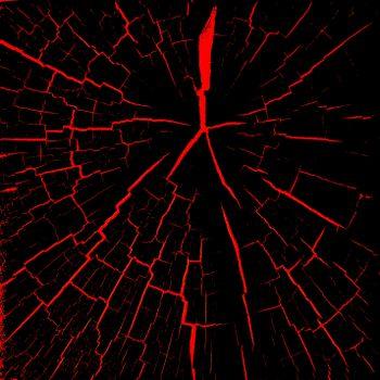Заставки трещины, красный, черный