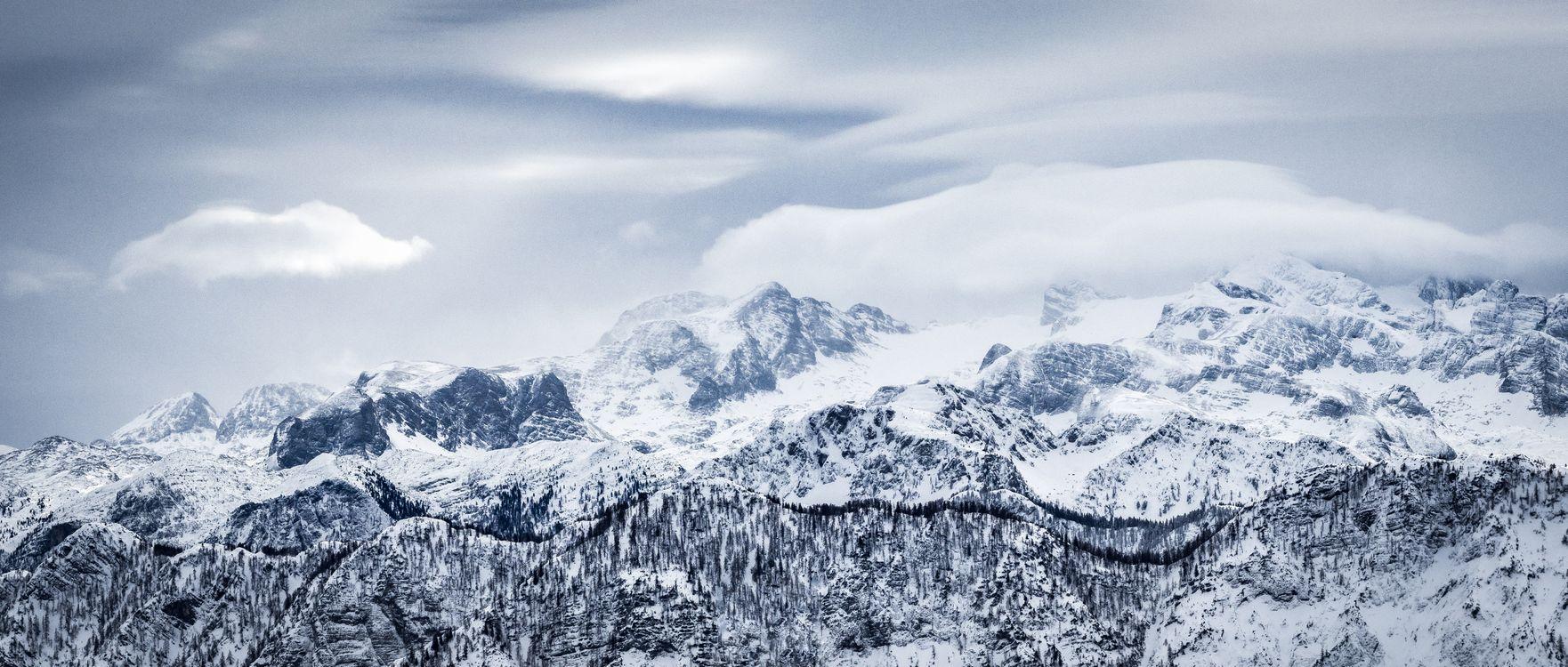 Фото бесплатно горы, снег, зима, высота, mountains, snow, winter - на рабочий стол