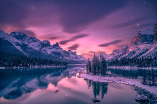 Photo free lights, sky, night