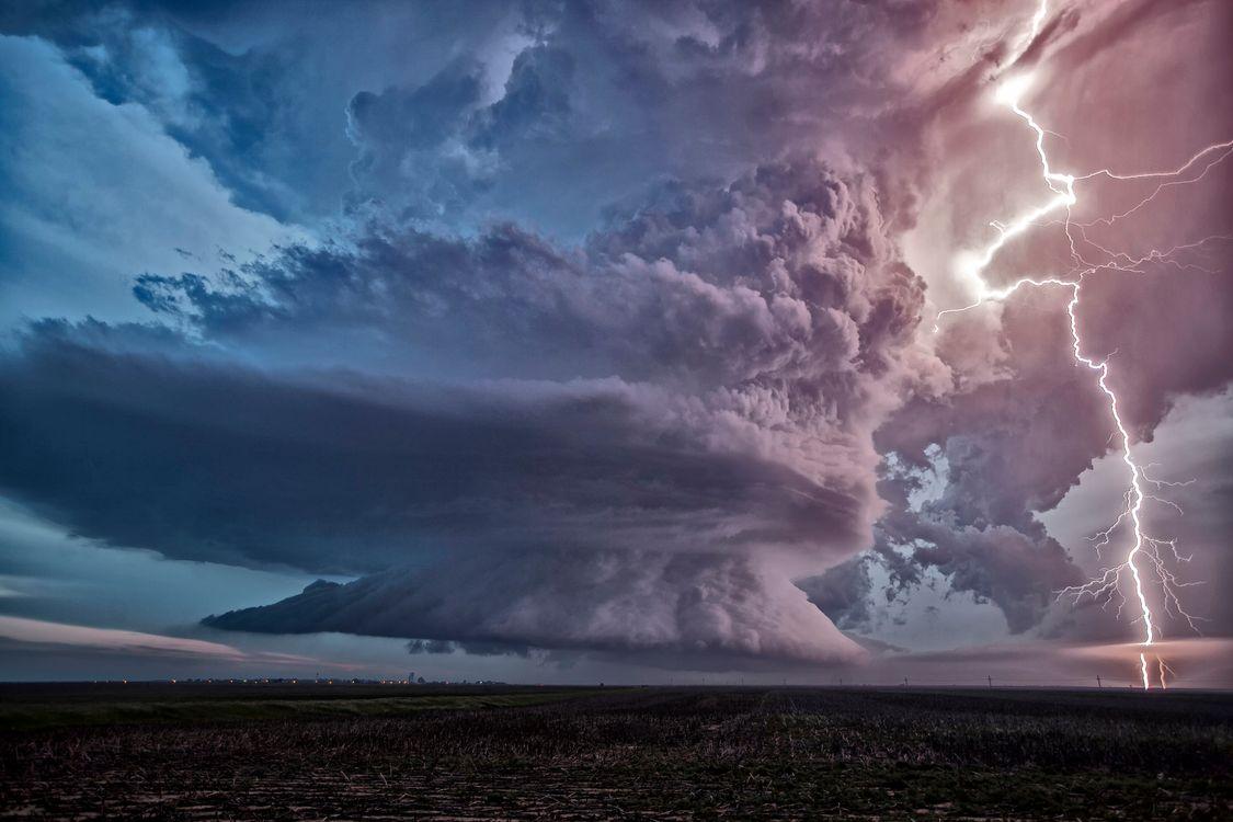 Фото бесплатно шторм, тучи, молнии - на рабочий стол