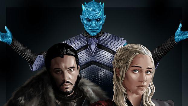 Заставки игра престолов, Jon Snow, Night King