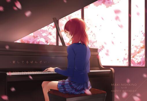 Фото бесплатно фортепиано, музыка, вишни