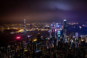 Ночной Гонконг (Китай) · бесплатное фото