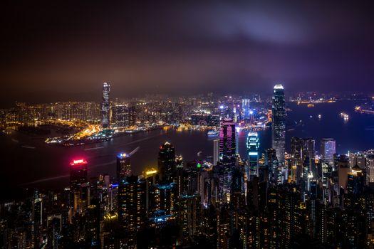 Ночной Гонконг (Китай)