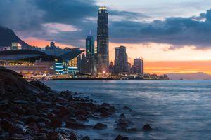 Фото бесплатно здания, пейзаж, берег
