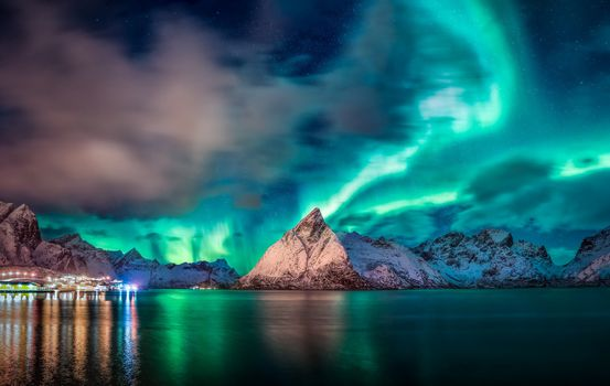 Photo free aurora, nature, mountains