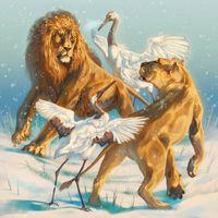Photo free lions, cranes, fantasy