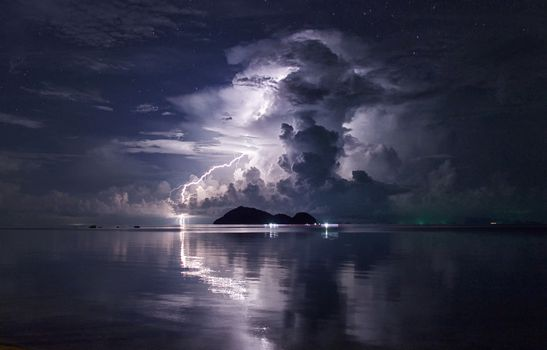 Enjoying the storm in Koh Phangan in Thailand