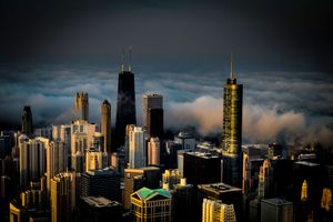Photo free prices of extended licenses, fog, chicago