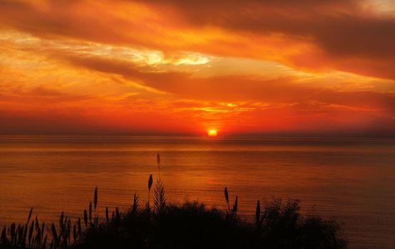 Фото бесплатно океан, пейзаж, восход