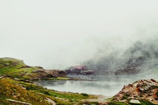 Фото бесплатно озеро, форма рельефа, туман
