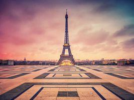Бесплатные фото Париж, Франция, Paris, закат солнца, сумерки, город, Эйфелева башня