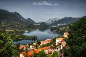Фото бесплатно города, деревня, горы