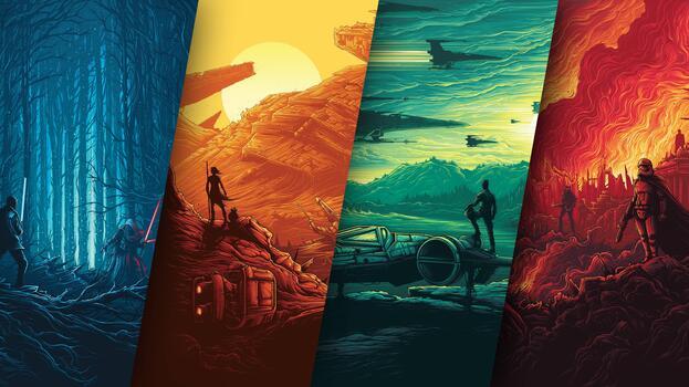 Фото бесплатно звездные войны, постер, фильмы