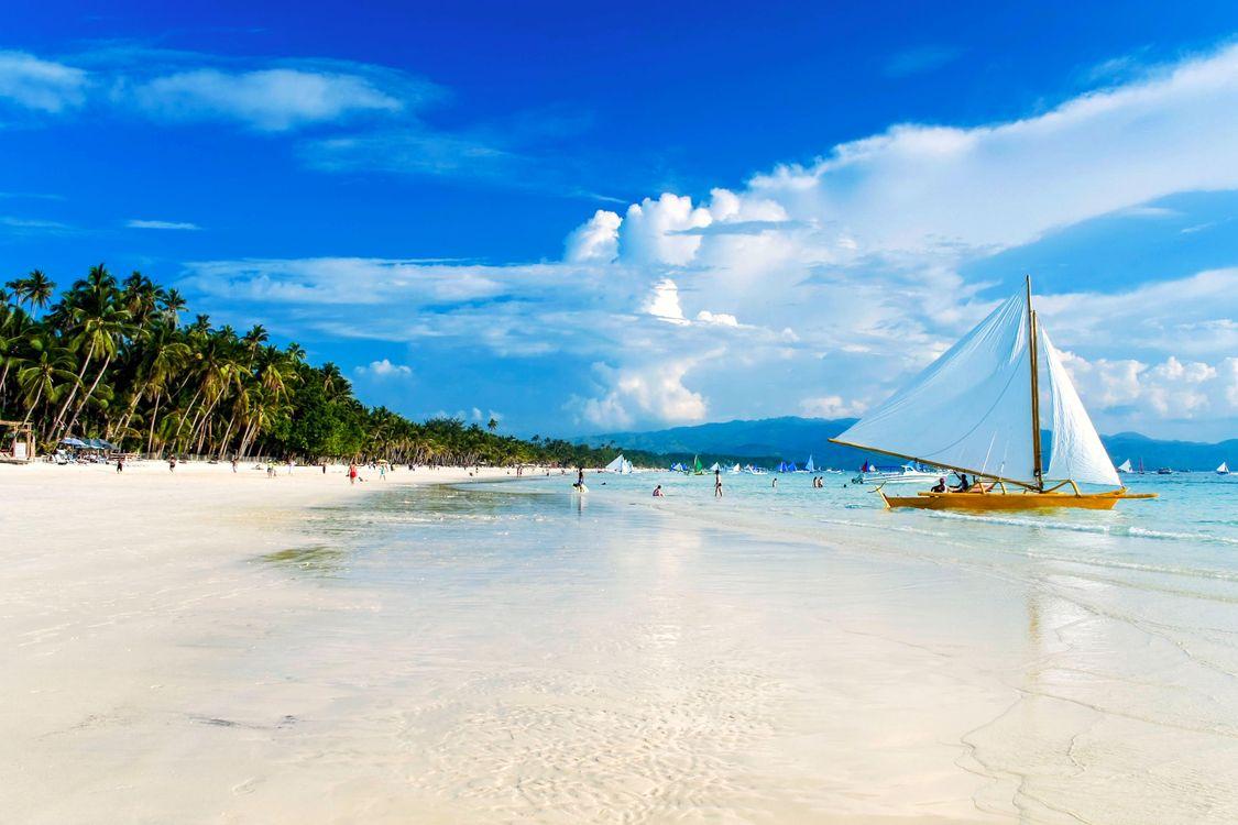 Фото бесплатно тропики, море, пляж, яхта, пейзажи