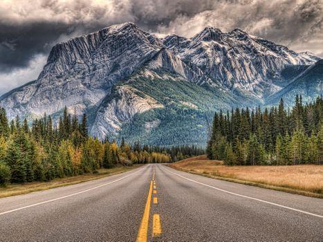 Фото бесплатно Маршрут 16 восток, Национальный парк Джаспер, Альберта