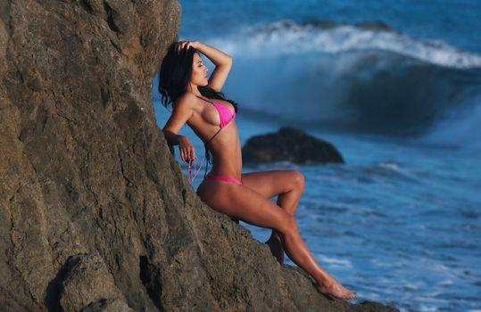 Photo free leg, ocean, photo shoot