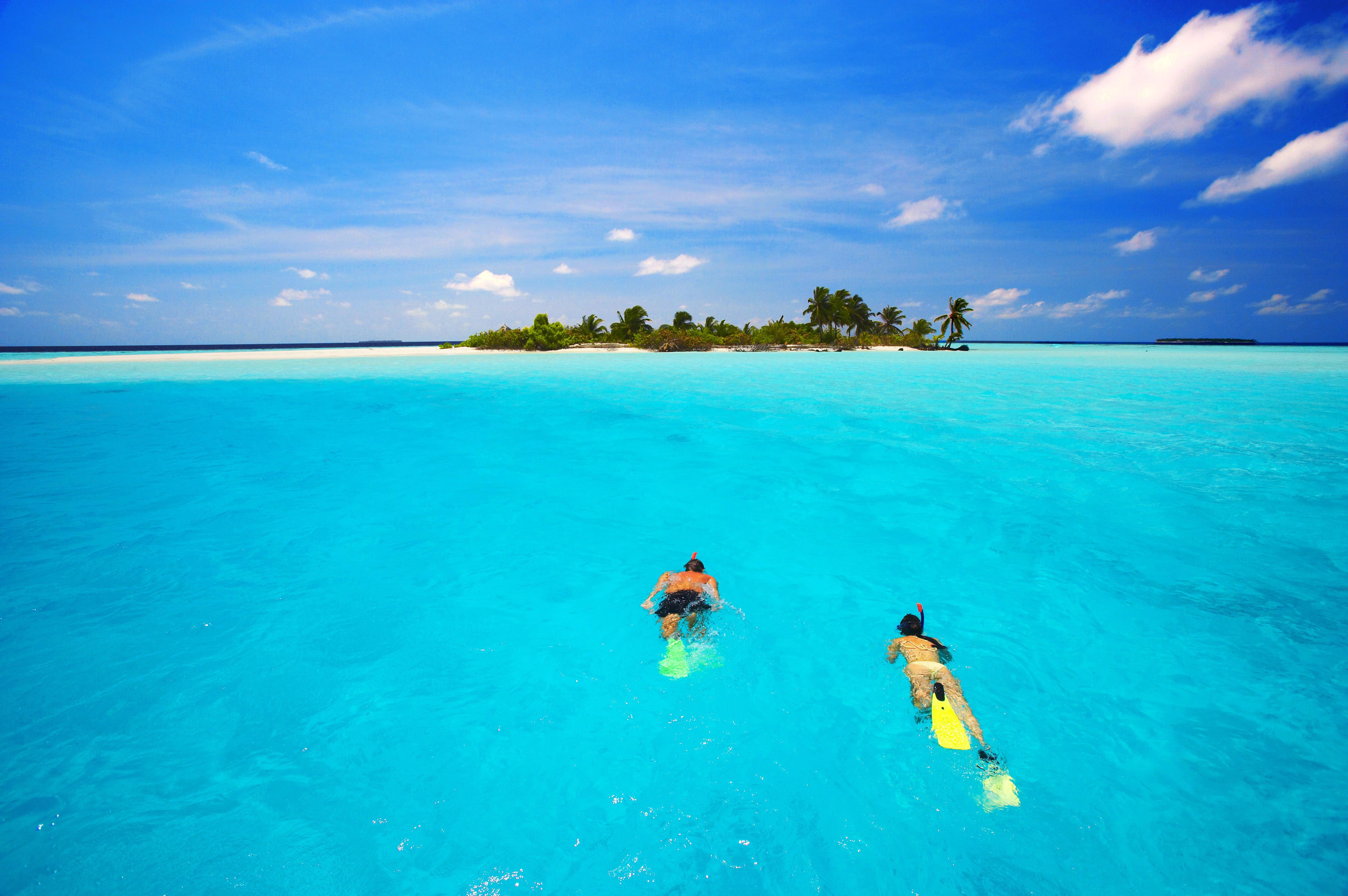 Обои тропики, море, остров, пляж